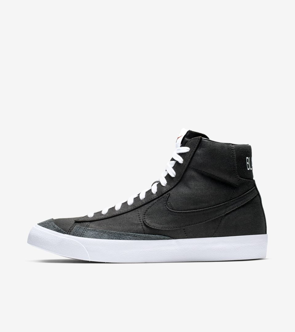 reputable site 02069 dba96 Nike Blazer Mid  77  Black Canvas  ...