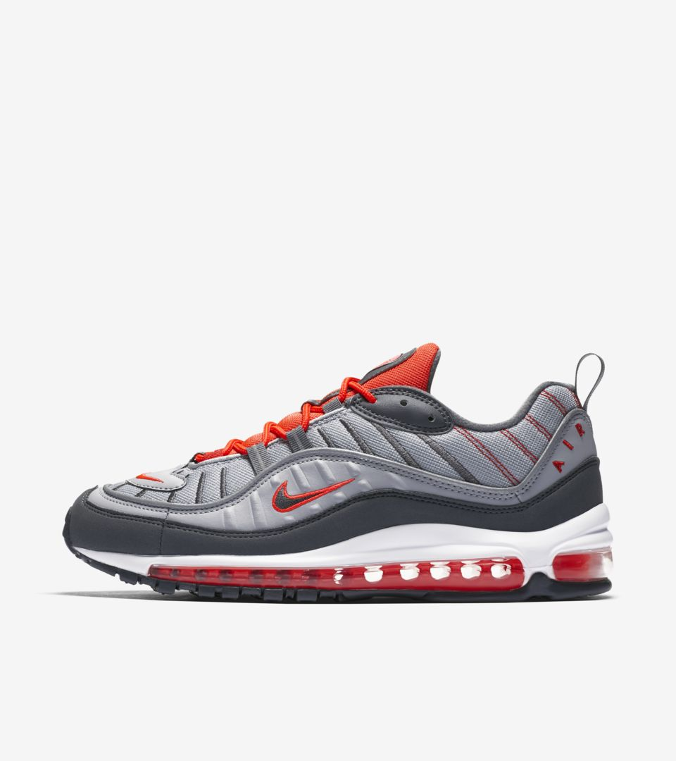 pretty nice 1d0c9 1db6d Nike Air Max 98 Wolf Grey  Total Crimson Release Date. Nike⁠