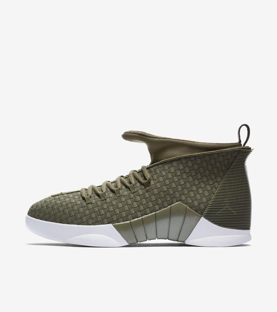 Air Jordan XV PSNY 'Olive Green'. Nike
