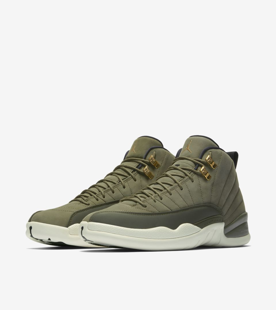 official photos 080e2 f4207 Air Jordan 12 Retro  Olive Canvas   Metallic Gold  ...