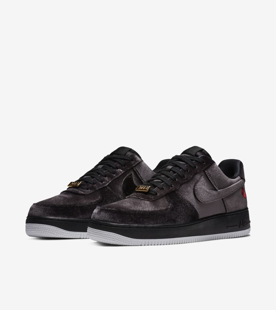 Nike Air Force 1 Satin  Black   White  Release Date. Nike+ SNKRS 6e7be3729