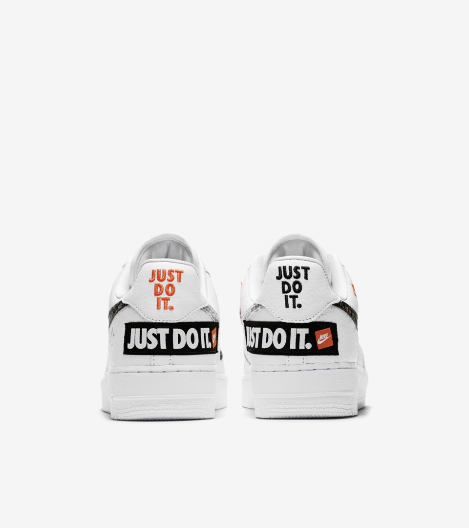 00014fb914cf Nike Air Force 1 Premium Just Do It Collection  White   Total Orange ...