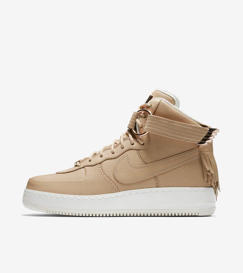 e01a42b0dc2a Nike Air Force 1 High Sport Luxury  Vachetta Tan . Nike+ SNKRS