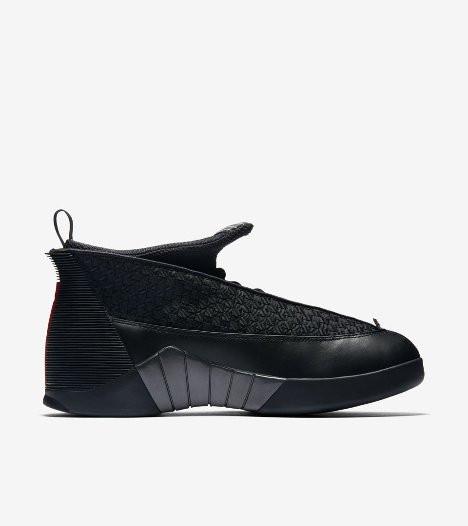 dce83b535416 Air Jordan 15 Retro OG  Black   Varsity Red . Nike⁠+ SNKRS