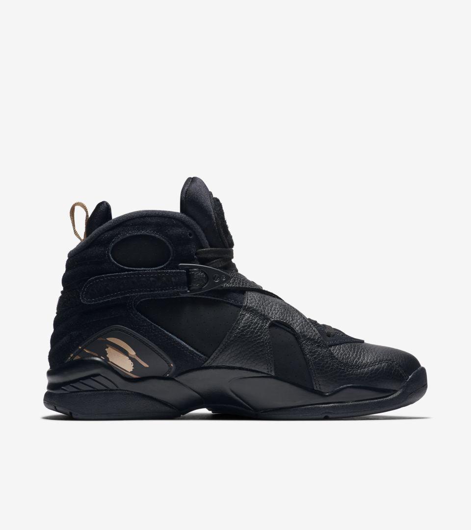 333fbd5f5409 Air Jordan 8 Retro OVO  Black   Metallic Gold  Release Date. Nike+ ...