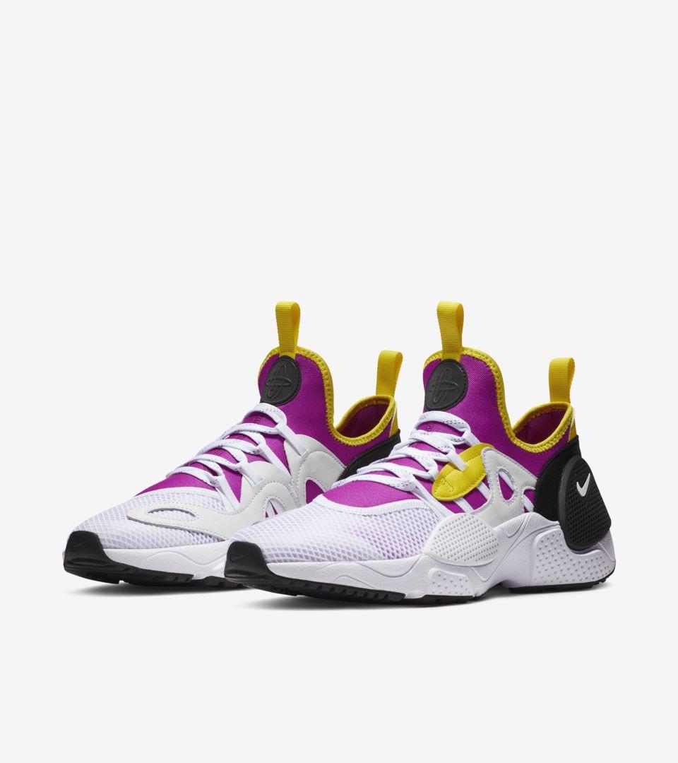 Nike Huarache E.D.G.E 'White & Magenta & Neon Yellow' Release Date