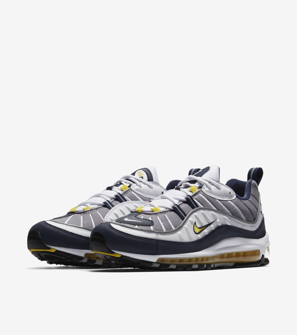 bbd065bf8b Nike Air Max 98  Tour Yellow  amp  Midnight Navy  Release Date. Nike ...