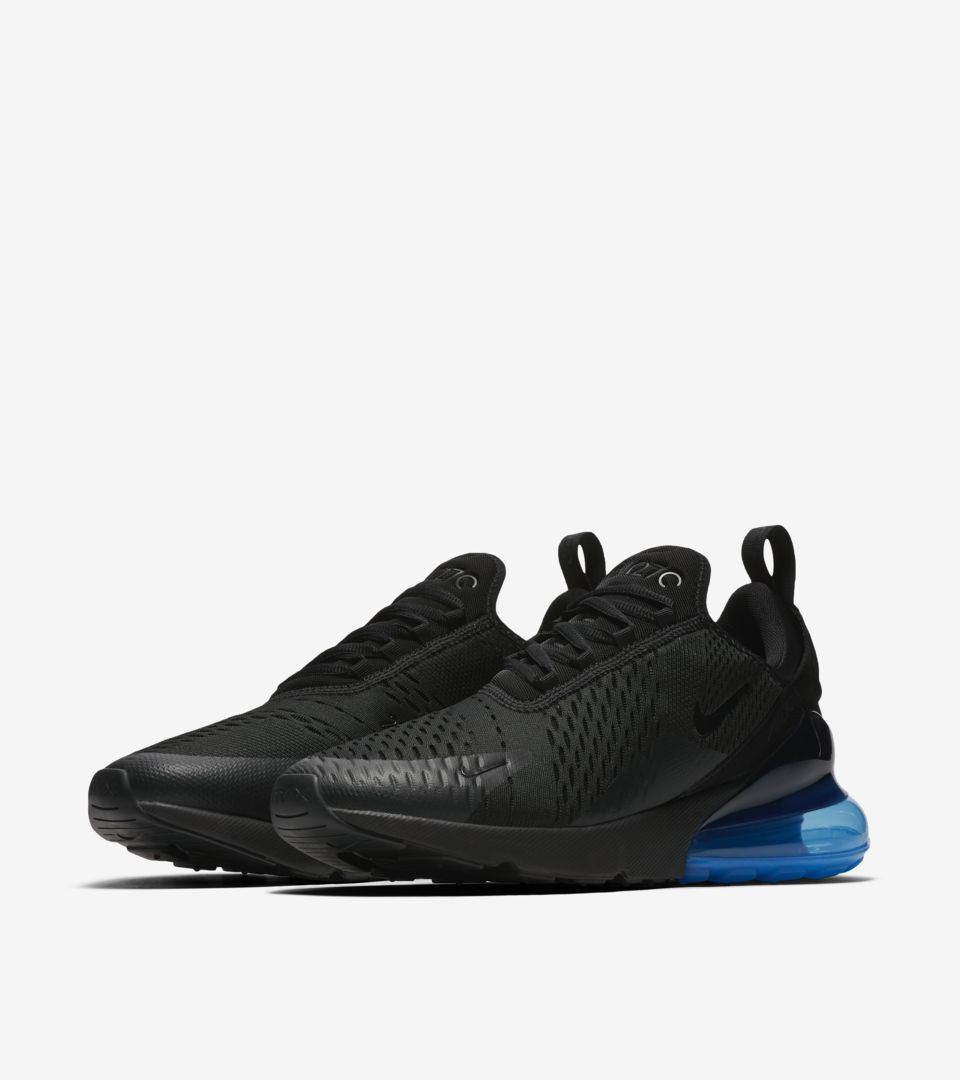 069a54995b8 Nike Air Max 270  Black   Photo Blue  Release Date. Nike⁠+ SNKRS