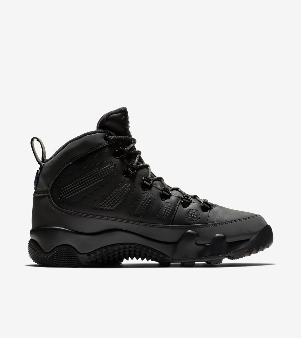 8f5ef656a03c Air Jordan 9 Boot  Black   Concord  Release Date. Nike+ SNKRS