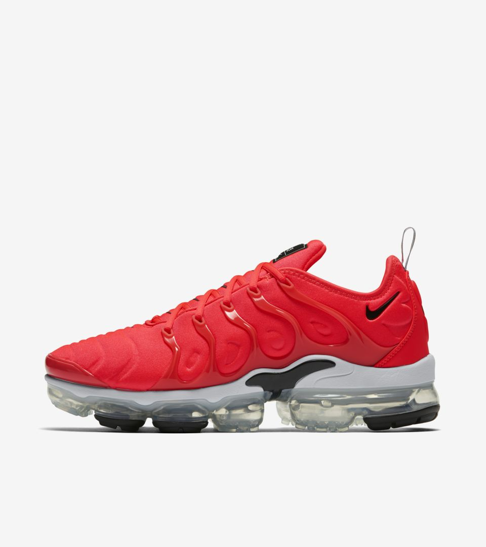 bdedc980311 Nike Air Vapormax Plus  Bright Crimson   White   Black  Release Date ...