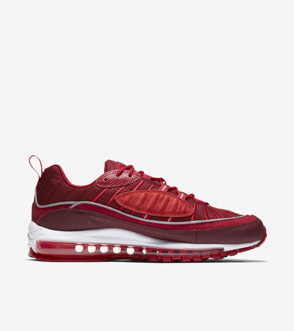87b73bff66f Nike Air Max 98  Team Red  amp  Habanero Red  Release Date. Nike⁠+ ...