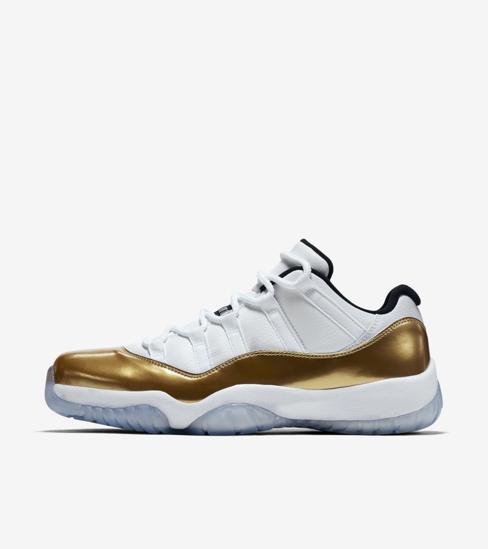 0295e8312df1 Air Jordan 11 Retro Low  White   Metallic Gold  Release Date. Nike⁠+ ...