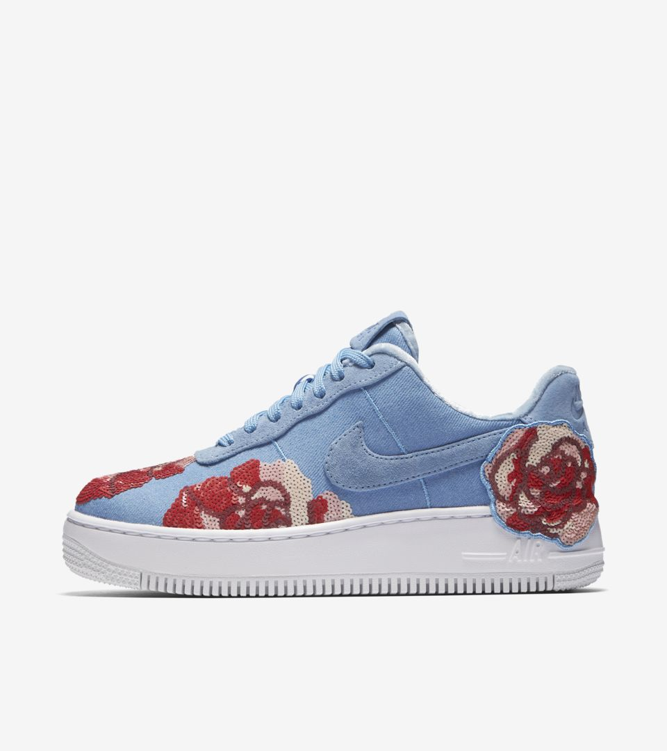 nike air force 1 upstep bleu