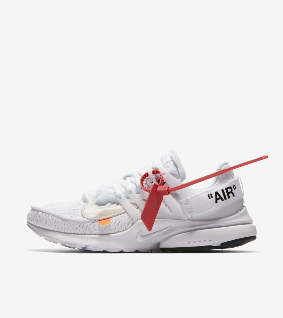Nike 'The Ten' Air Presto Off-White 'White & Cone' Release