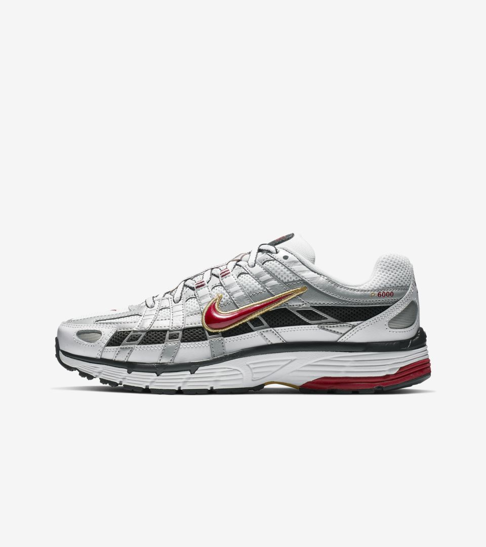 Women's Nike P-6000 'White & Metallic Platinum & Dark Charcoal' Release Date