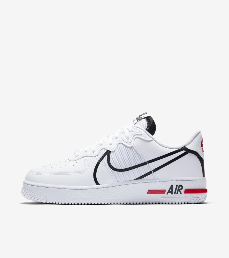 hacer los deberes Unir Adición  Air Force 1 React 'White/Black/True Red' Release Date. Nike SNKRS IN