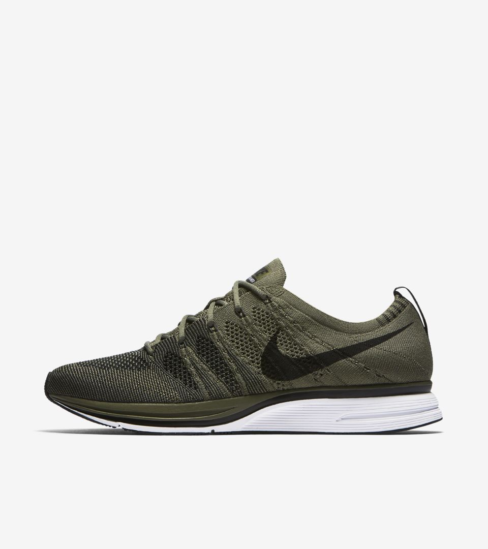 c45830a3e74f2 Nike Flyknit Trainer  Light Olive   Black  Release Date. Nike+ SNKRS
