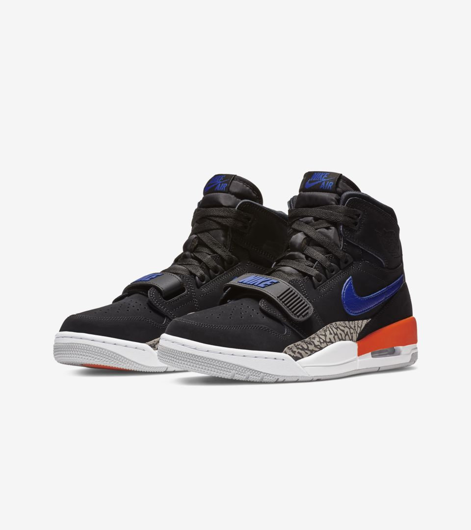 Air Jordan Legacy 312 'Black & Rush Blue & Brilliant Orange