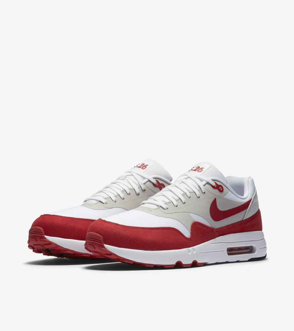 Nike Air Max 1 Ultra 2.0 LE 'White & University Red'. Nike