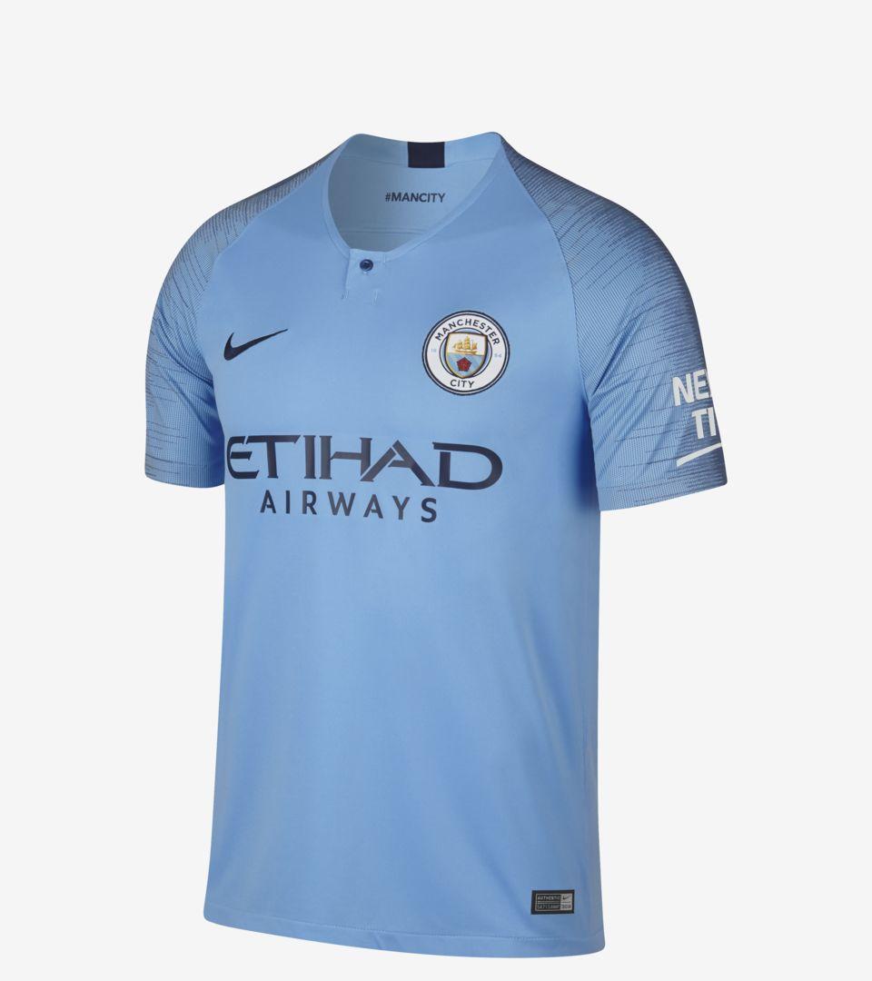 b72932f39 Manchester City 2018 19 Home Shirt. Nike.com GB