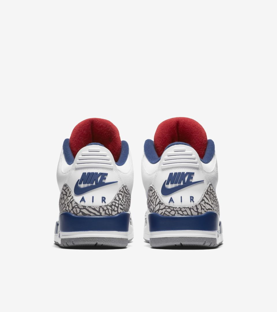 1bc21f6d630d84 Air Jordan 3 Retro OG  White   Cement Grey   Blue . Nike⁠+ SNKRS