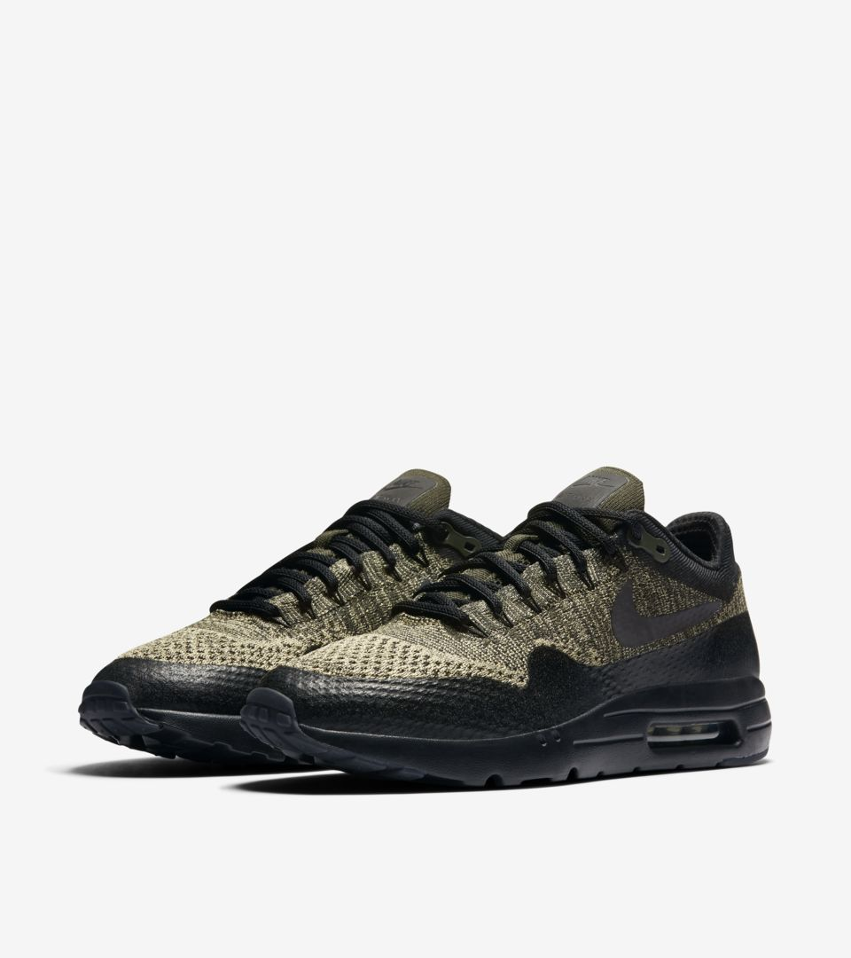 new style 09e92 0fad2 Nike Air Max 1 Ultra Flyknit 'Neutral Olive & Black'. Nike⁠+ ...