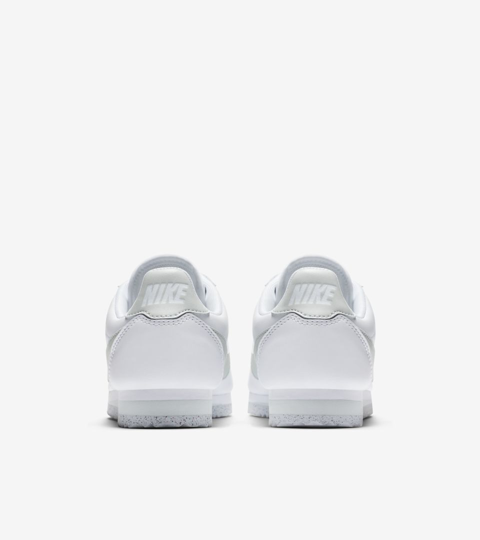 730143adb6685 Women s Classic Cortez Flyleather  White   Light Silver  Release ...