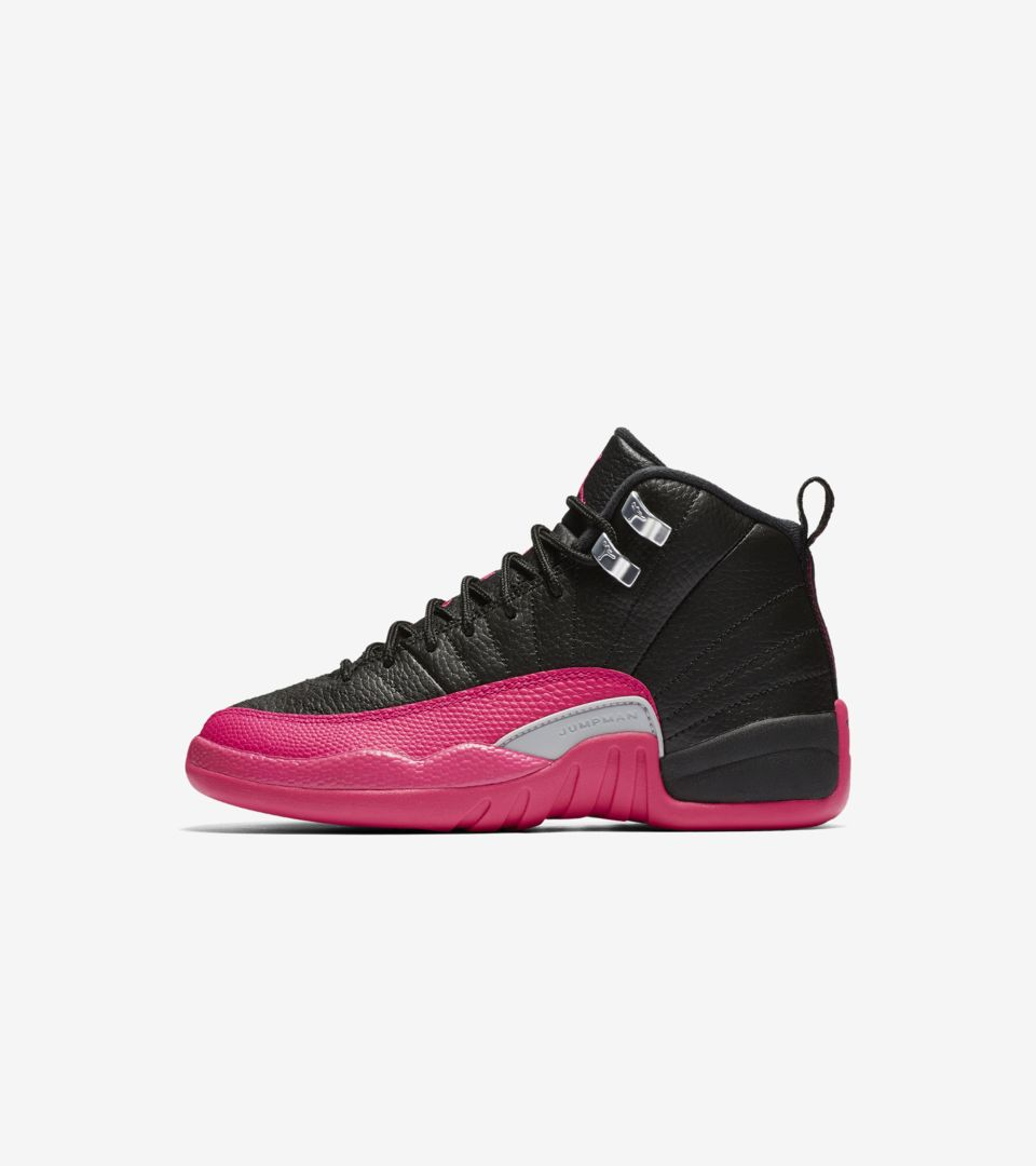 size 40 d2bf0 1db64 Girls' Air Jordan 12 Retro 'Black & Deadly Pink' Release ...