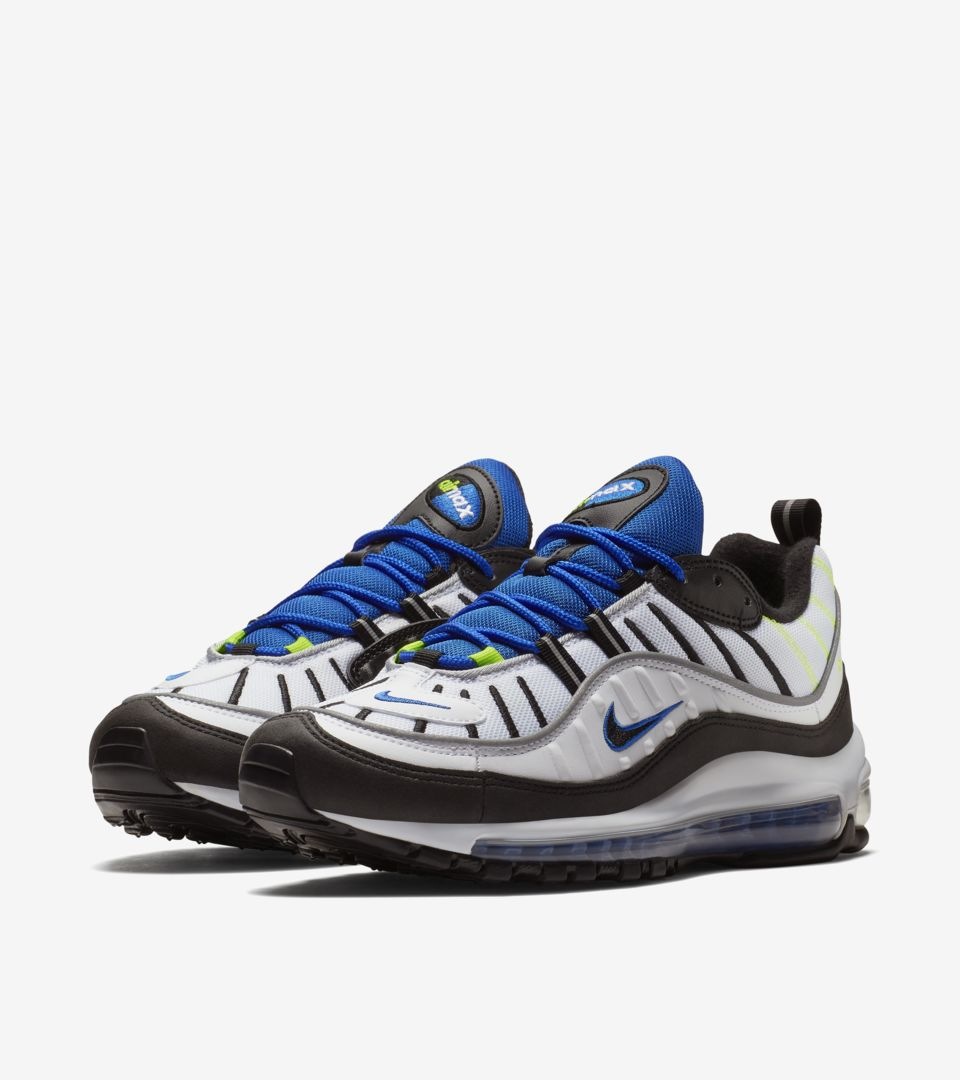 67ff67d1d2a Nike Air Max 98 'White & Black & Racer Blue' Release Date. Nike⁠+ SNKRS