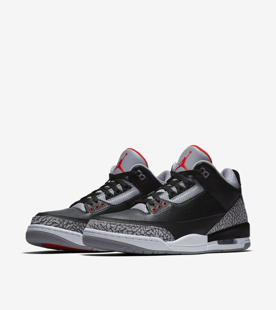 separation shoes 3d1c0 ee0a2 Air Jordan 3 Retro OG 'Black Cement' 2018 Release Date ...