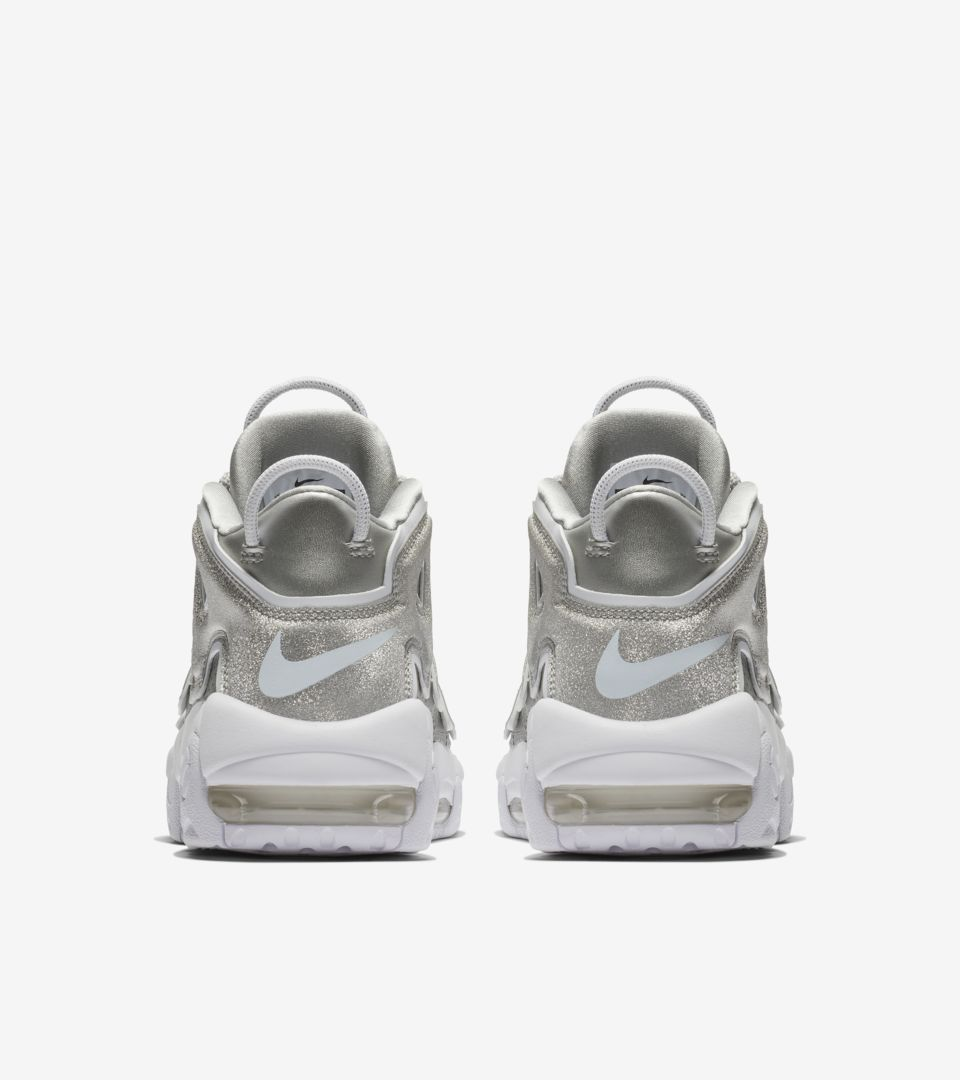 sports shoes 8936c 02928 ... Women s Nike Air More Uptempo  Metallic Silver   White  ...