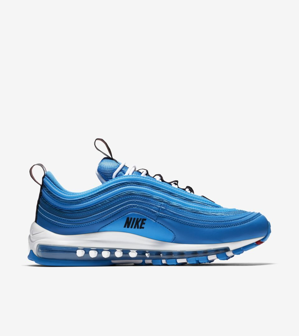 Nike Air Max 97 Premium 'Blue Hero & Black & White' Release