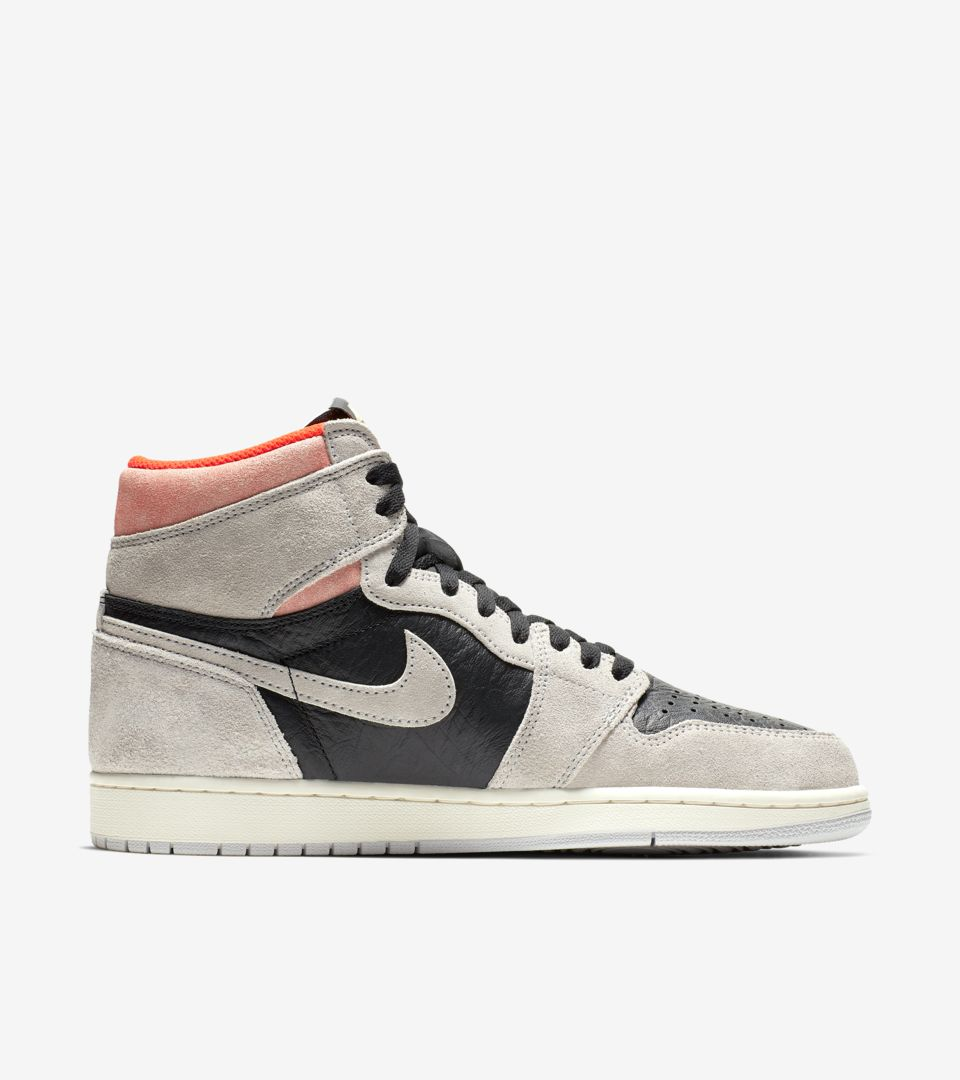 be1e2adb1cb Air Jordan 1 High OG  Neutral Grey   Hyper Crimson   Black  Release ...