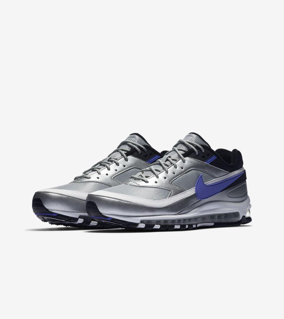 new styles 15bc7 3e4ba Nike Air Max 97/BW 'Metallic Silver & Persian Violet & White ...