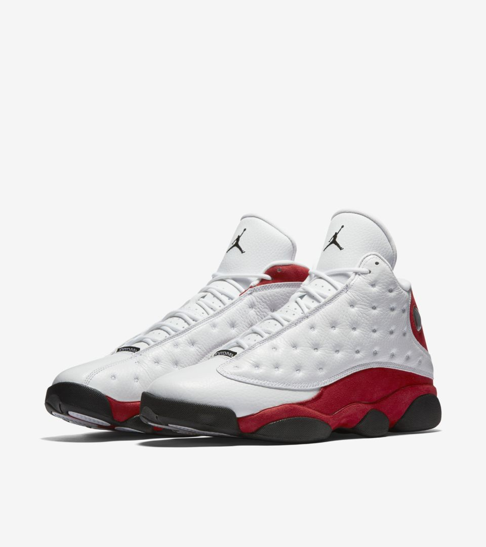 Air Jordan 13 Retro OG  White  amp  Team Red . Nike⁠+ Launch GB 31552427f