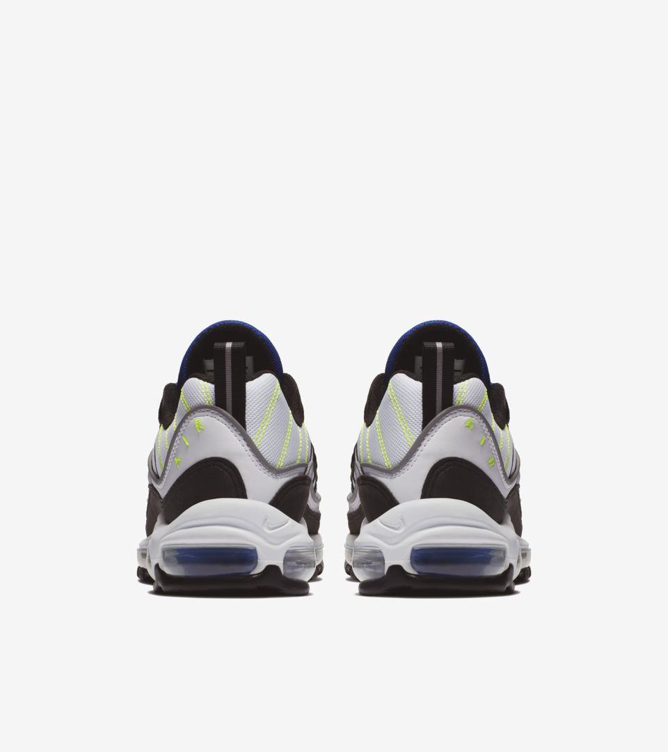 hot sale online 8cde5 1cb69 Nike Air Max 98 'White & Black & Racer Blue' Release Date ...