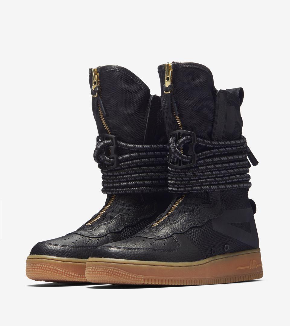 separation shoes 3051e 38ecc Nike Women's SF Air Force 1 Hi 'Black & Gum Medium Brown ...
