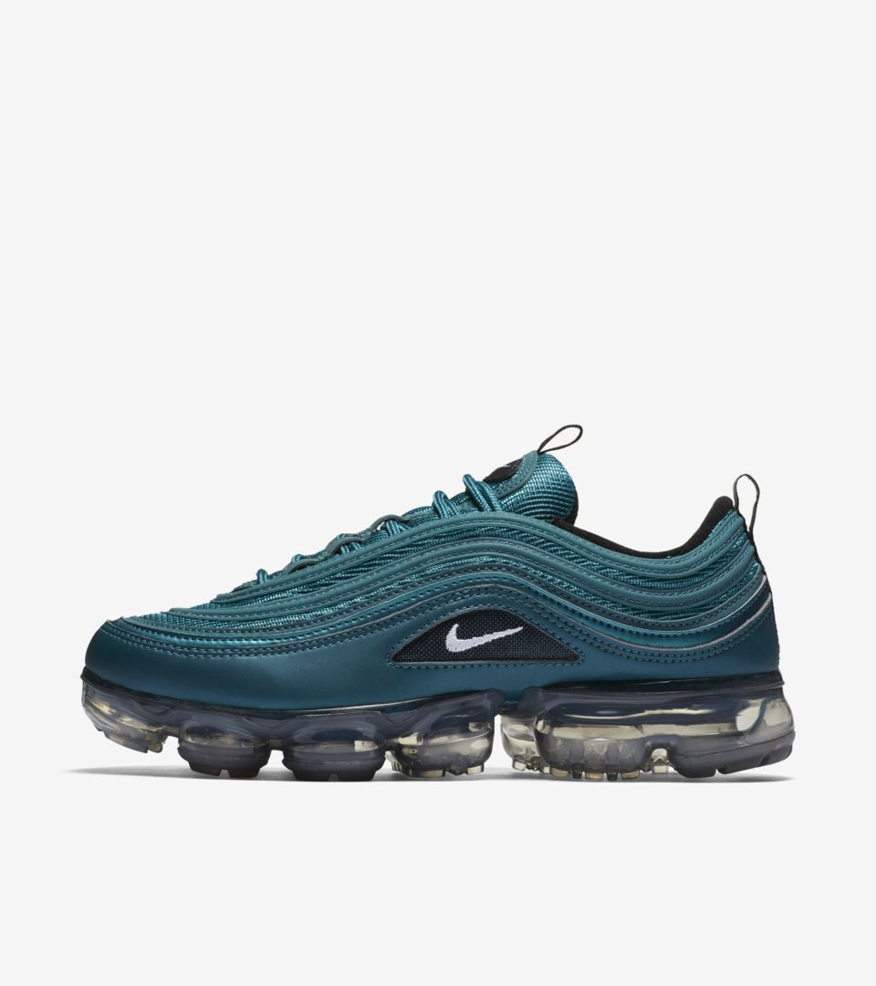 online store c0ac2 cc6f0 Nike Women's Air Vapormax 97 'Metallic Dark Sea & Black ...