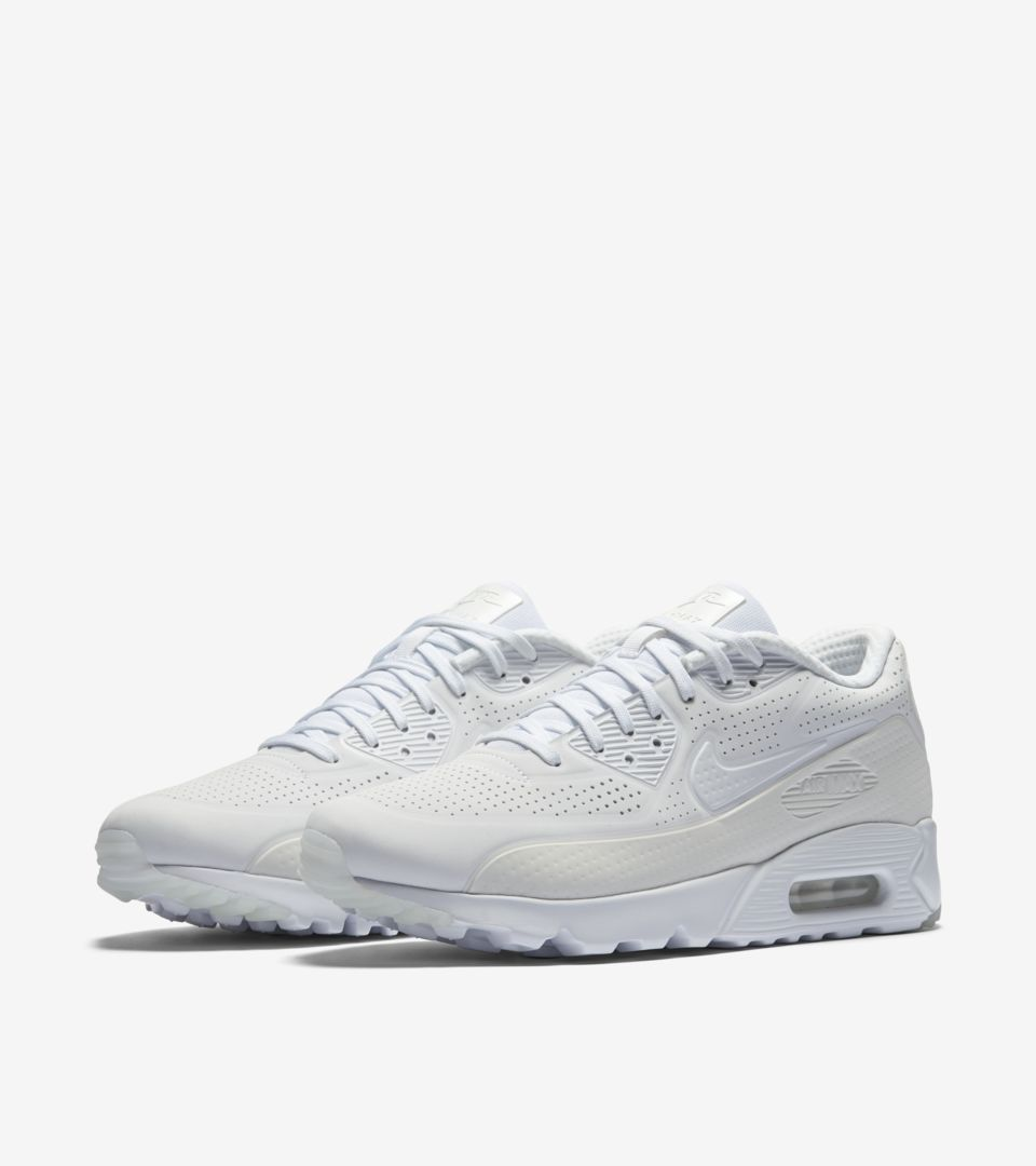 7f7ec724af Nike Air Max 90 Ultra Moire 'Triple White'. Nike⁠+ SNKRS