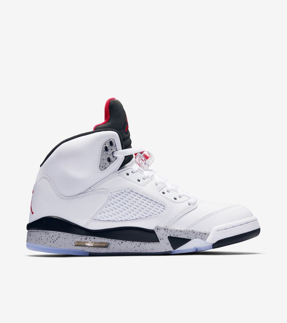 the best attitude fad34 81ea4 Air Jordan 5 Retro 'White & Black & University Red' Release ...