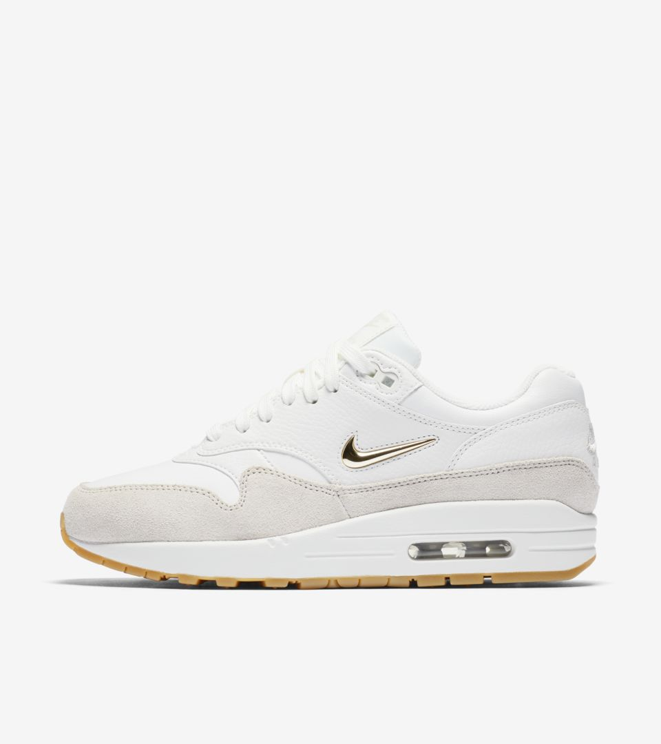 Nike Air Max 1 Premium 'Summit White & Metallic Gold ...