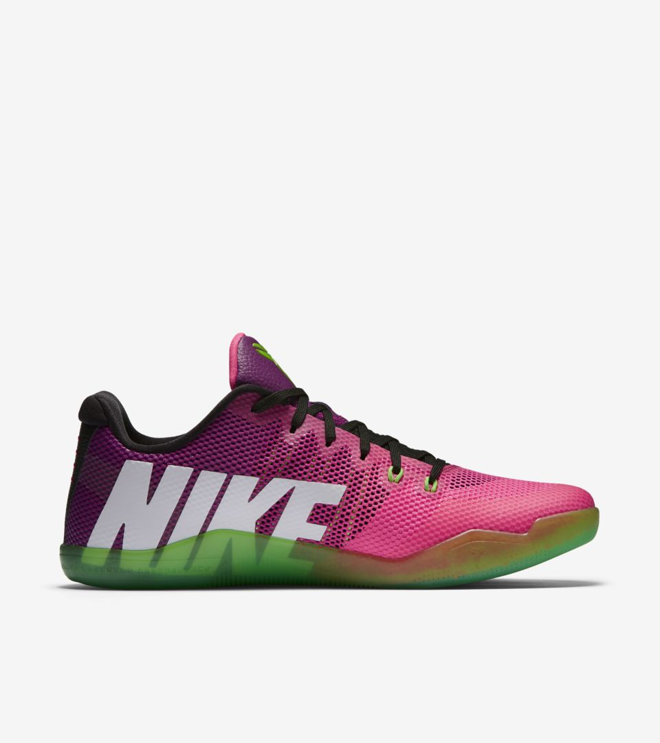 size 40 960dd 186bf Nike Kobe 11 Mambacurial  Pink Flash   Action Green  Release Date ...
