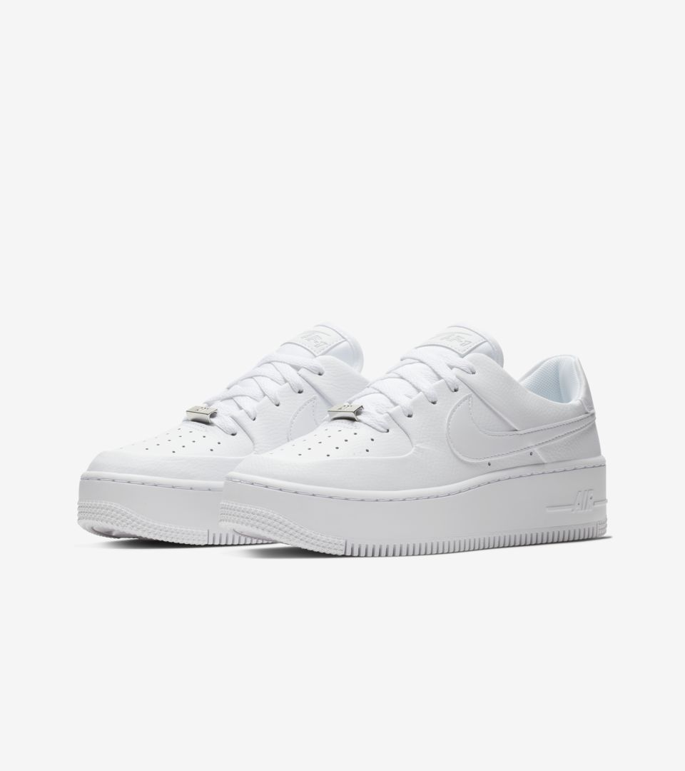 Nike Women s Air Force 1 Sage Low  White  Release Date. Nike⁠+ SNKRS 8df9be3d72