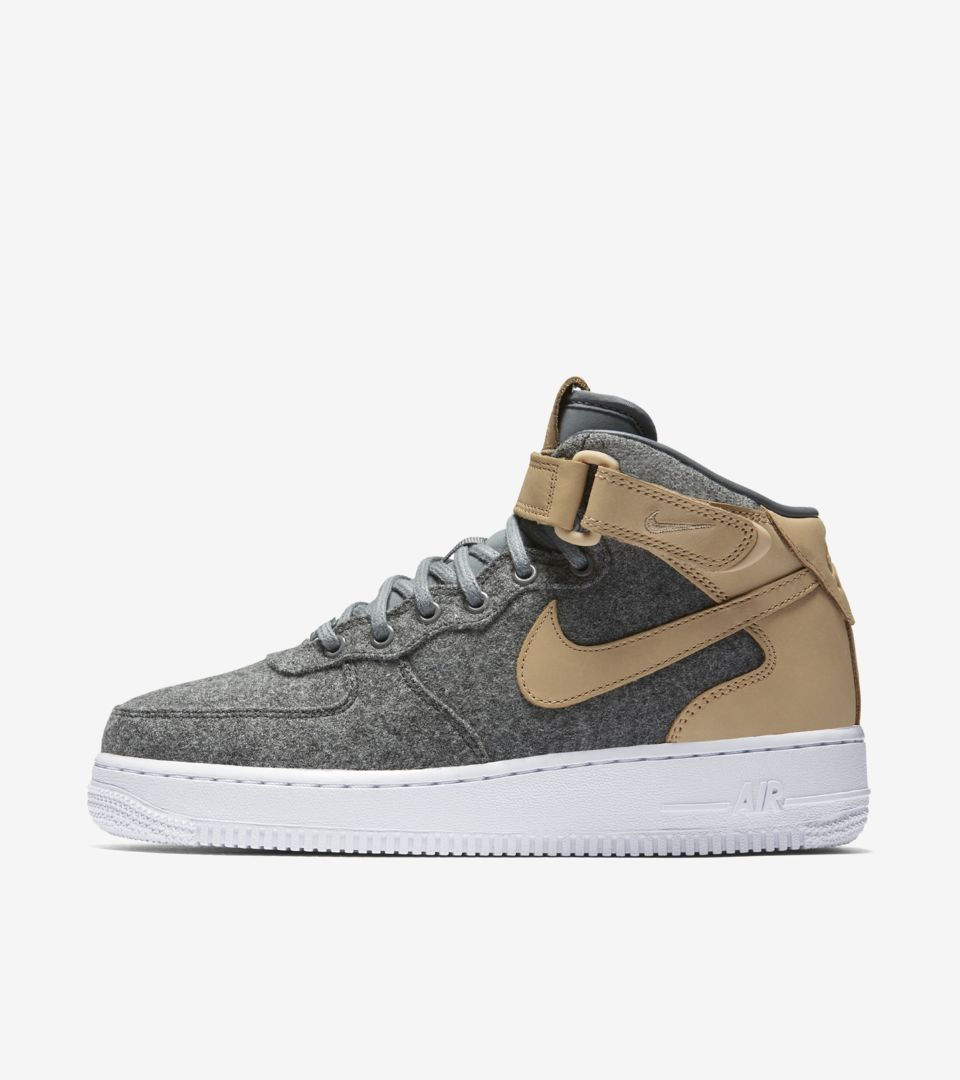 Womens Nike Air Force 1 Mid Leather 'Cool Grey & Vachetta