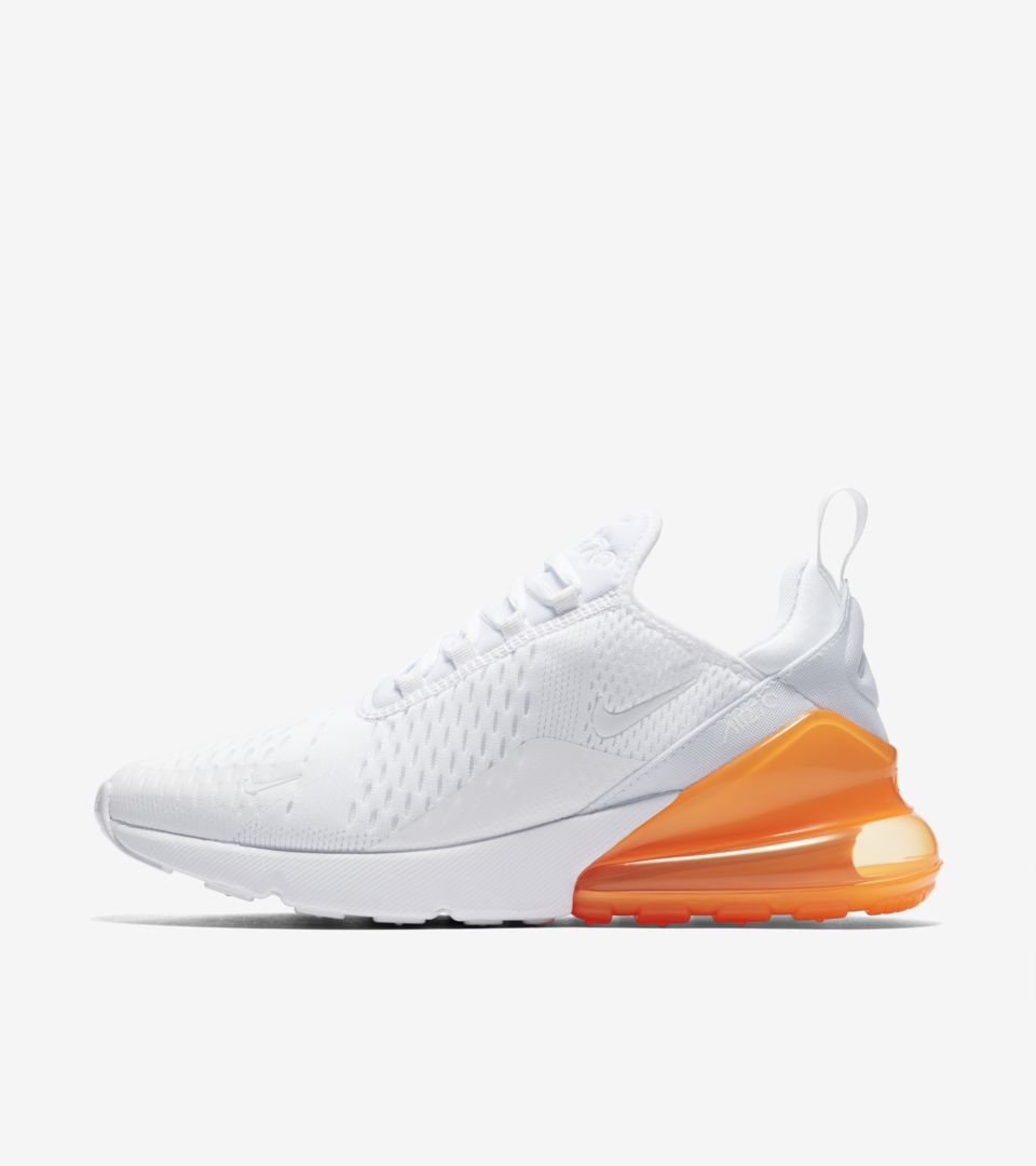 quality design ba23c 18dfc Nike Air Max 270 White Pack 'Total Orange' Release Date ...