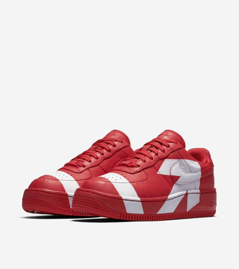 Women s Nike Air Force 1 Upstep  University Red   White  Release ... ffdd677ff