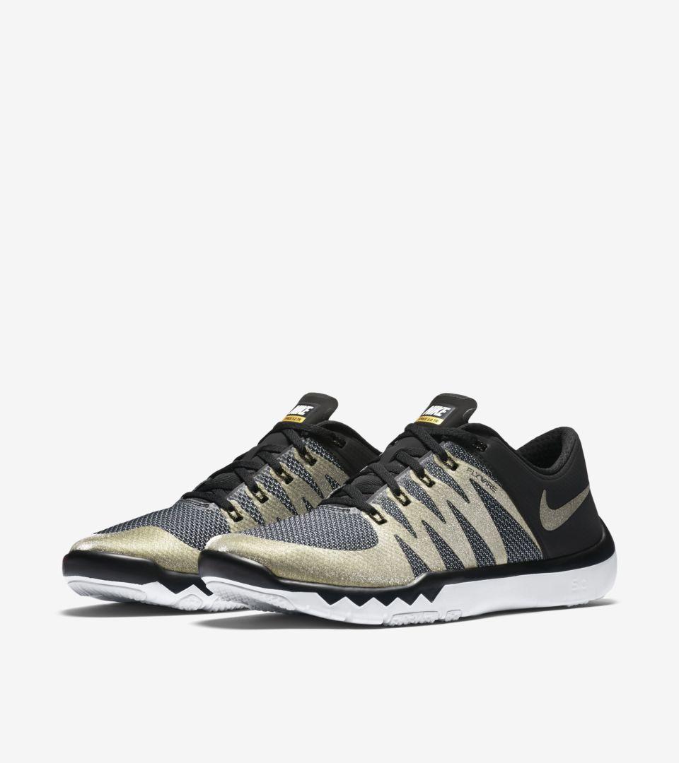 cbd20ab89b72 Nike SB50 Nike Free Trainer 5.0 V6  Black   Metallic Gold . Nike+ SNKRS