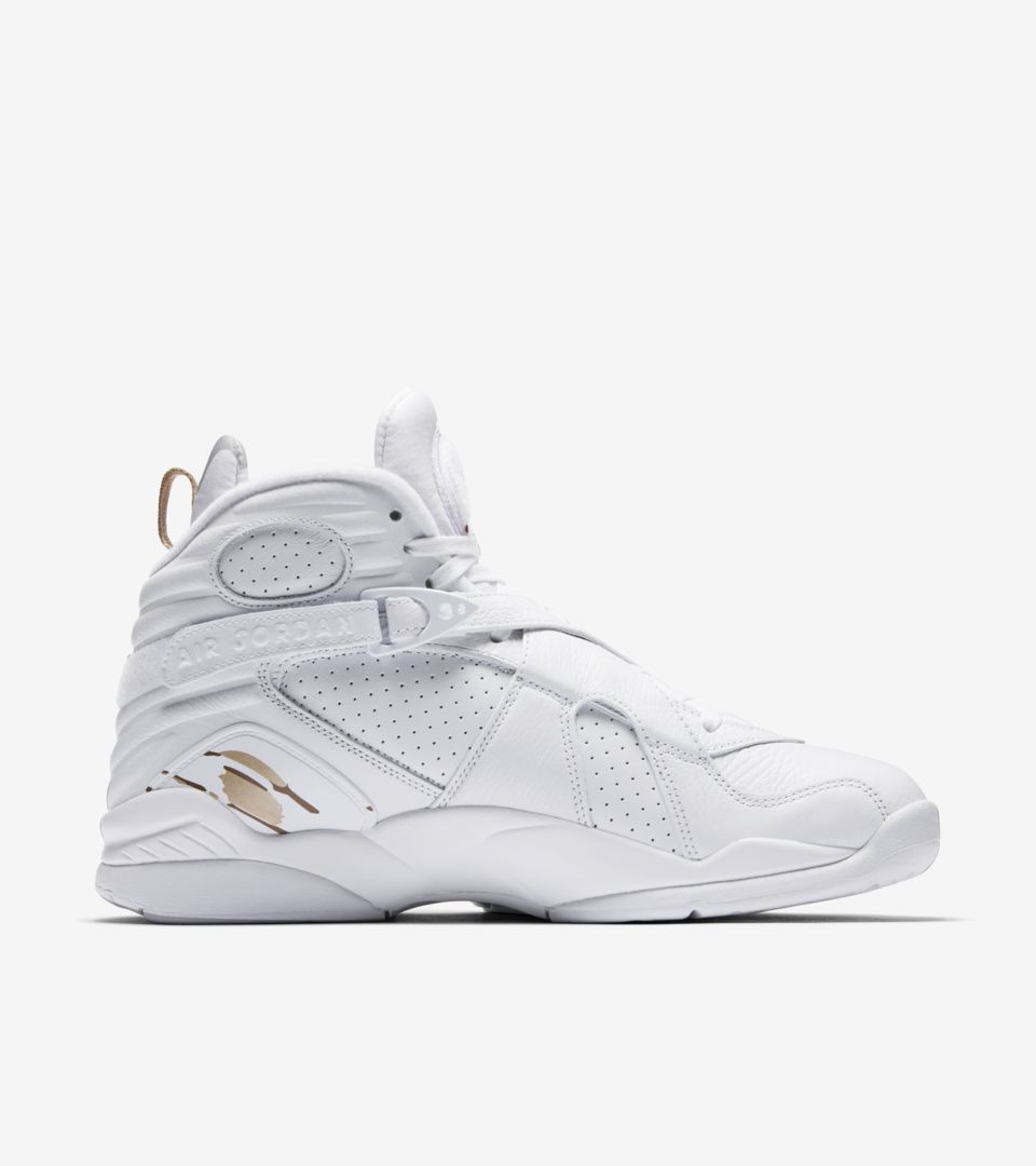 b33861011f855c Air Jordan 8 Retro OVO  White   Metallic Gold  Release Date. Nike⁠+ ...
