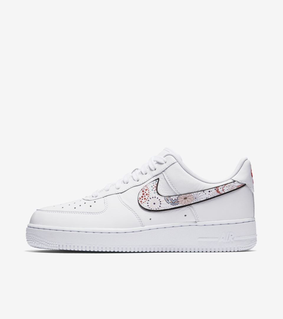 9682b2a9214c Nike Air Force 1 LNY  White   Habanero Red  Release Date. Nike⁠+ SNKRS