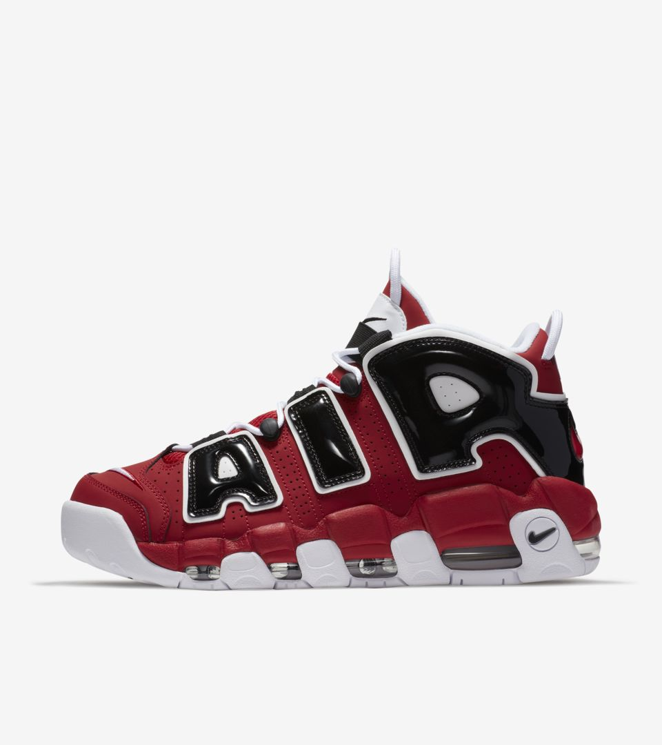 85301caee37ec Nike Air more Uptempo 96  Varsity Red  amp  Black  amp  White . Nike ...